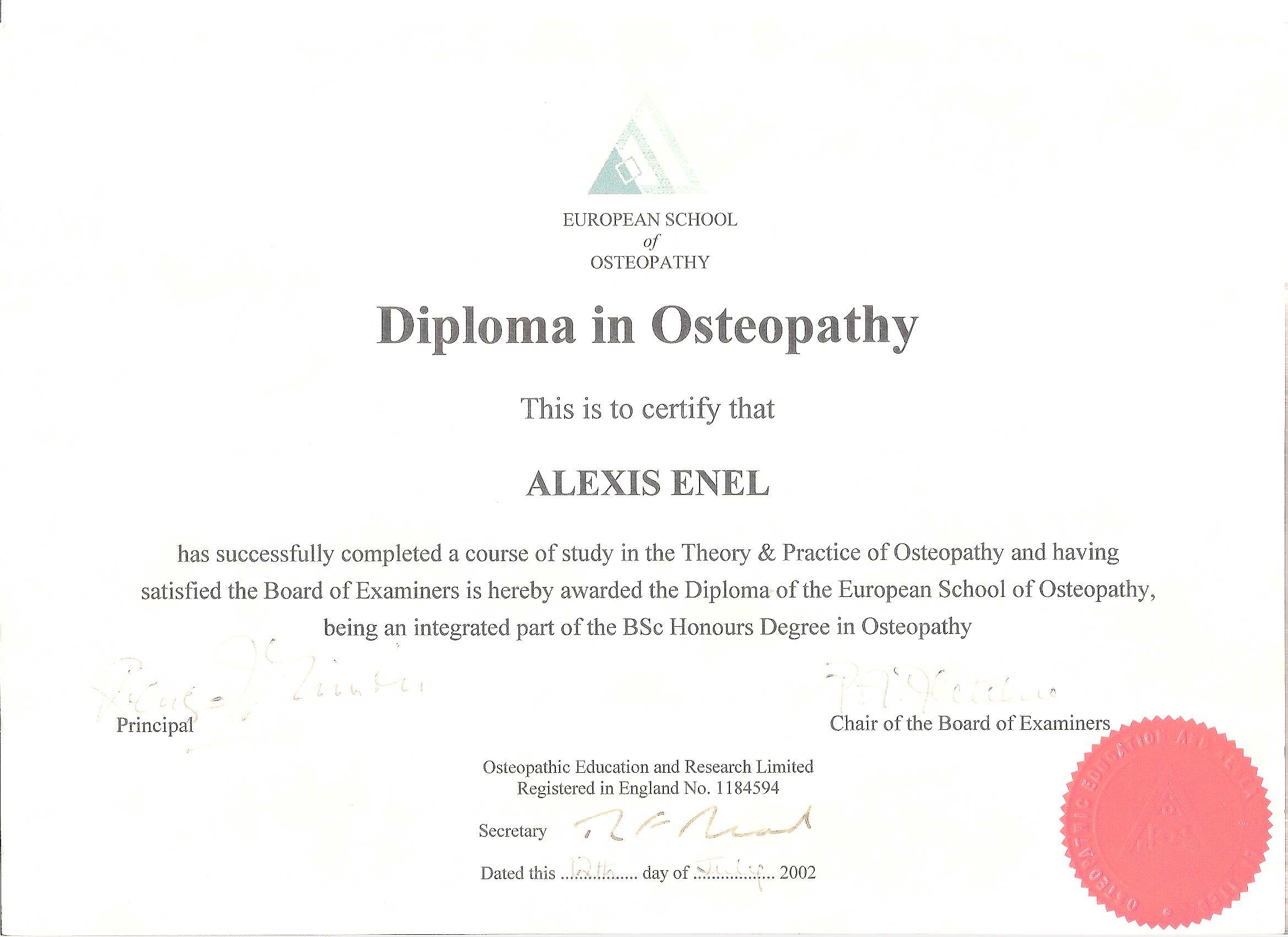 Alexis Enel | Euphoria Osteopath Clinic